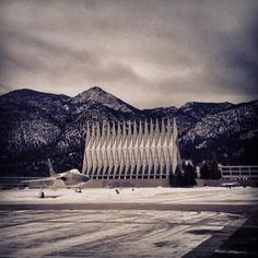 Snow covered Air Force Academy