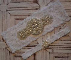 SALE Wedding Garter Rhinestone Wedding Garter Set by Special Touch Bridal  $29.99