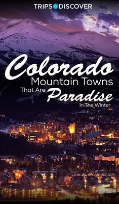 These charming Colorado mountain towns are postcard-perfect winter wonderlands! … These charming Colorado mountain towns are postcard-perfect winter wonderlands! Vail Colorado, Denver Colorado, Colorado Springs, Moving To Colorado, Colorado Winter, Colorado Mountains, Colorado Trip, Breckenridge Colorado, Rocky Mountain National