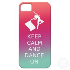 """colorguard   Colorguard """"Keep Calm and Dance On"""" iPhone 5 Cases from Zazzle.com"""