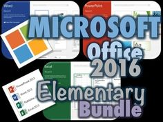 This Bundle includes the following lessons and activities to introduce Office 2016 to elementary students...1.  Microsoft Office Questions Investigation2.  WORD Lesson and Activities3.  POWERPOINT Lesson and Activities4.  EXCEL Lesson and Activities5.