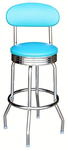 Our Reagan Bar Stool has become an instant classic.  Our retro bar stool is made to look just like the stools from the 1950s except more durable.