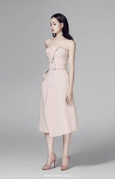 Strapless Midi Dress, Satin Dresses, Gowns, Cute Dresses, Casual Dresses, Fashion Dresses, Gamine Style, Professional Outfits, Dress To Impress