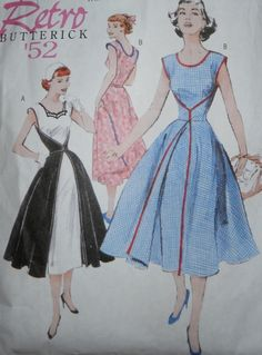 Edelweiss Patterns Blog-- I found this site and love the Retro patterns from Butterick (this one is 4790)---