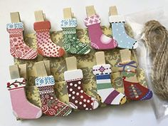 Cute Christmas Stocking Wood Clips with twine,Wooden Paper Pegs,Pin Clothespin,Christmas Party Engagement Invitation Cards, Engagement Cards, Cute Christmas Stockings, Christmas Tree, Christmas Ornaments, Christmas Holidays, Christmas Ideas, Personalised Wedding Presents, Wooden Clothespins