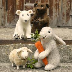 Handmade felted needlefelted wool lamb sheep.