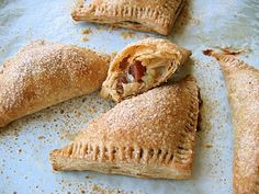 Roasted Quince and Apple Turnovers, encased in flaky whole wheat puff pastry, from The Bojon Gourmet