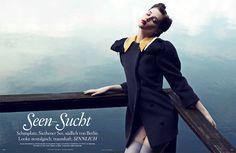 'Lakes Addiction' Anais Pouliot by Horst Diekgerdes for Vogue Germany August 2011