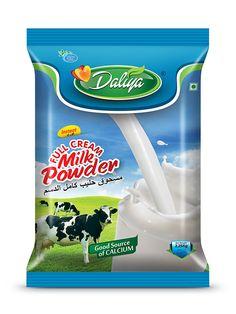 Daliya Milk Powder Pouch design by Brandz Milk Packaging, Pouch Packaging, Plastic Packaging, Blush And Grey Wedding, Good Sources Of Calcium, King Charles Puppy, Label Design, Package Design, Packaging Design Inspiration