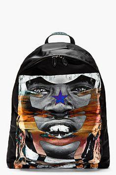Givenchy Black & Multicolor Canvas Sunset Print Backpack for men | SSENSE