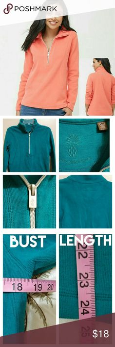💘JUST IN!💘Tommy Bahama Pullover Sweater Stunning deep turquoise half-zip pullover. Tommy Bahama imprinted on back of sweater in same color as sweater. Pic 2 gives Item Description. I was a Size Small when I wore this, so I found the sizing to be a roomy XS (but that is my opinion). Check measurements in Pic 3 to see if this would work for you. No holes, rips, or stains. Tommy Bahama Sweaters