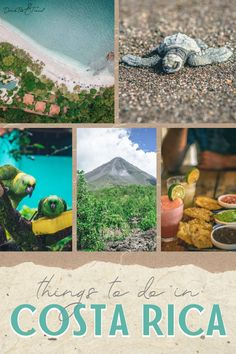 Discover the best places to go in Costa Rica and start filling up your Costa Rica bucket list! This guide to things to do in Costa Rica has everything for the perfect Costa Rica trip from sloths to surfing to volcanoes and more! There are plenty of fun things to do whether you're in Jaco, Nosara, Tamarindo or even Puerto Viejo.#CostaRica #TravelGuide #BeautifulDestinations #TravelBucketList #CostaRicaThingsToDo Honeymoon Vacations, Vacation Trips, Costa Rica Attractions, Tabacon Hot Springs, Corcovado National Park, Nosara, Costa Rica Travel, Tamarindo, Jaco