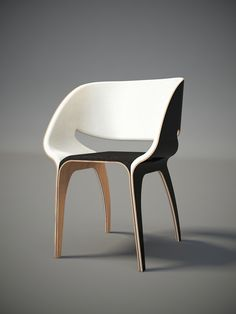 Siя chair concept | Wood + White + Natural | Modern Home Interiors | Contemporary Decor Design #inspiration #nakedstyle