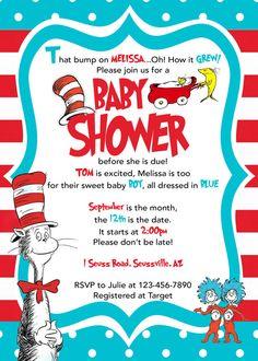 Dr Seuss Baby Shower Dr Seuss Cat in the by LittleGermanBoutique