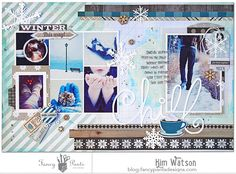 Chill *Fancy Pants Designs* - Scrapbook.com - Beautiful winter layout made with Fancy Pants Timbergrove collection.