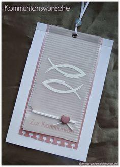 Jenny's Papierwelt: ~ Kommunionswünsche für zwei Mädchen ~