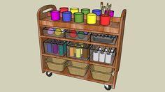 Preschool Classroom Arts & Crafts Trolley Cart - 3D Warehouse