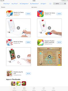 All Osmo games available to download from the app store