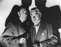Basil Rathbone and Nigel Bruce as Holmes and Watson