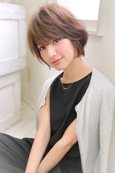 Kawaii Hairstyles, Cute Hairstyles For Short Hair, Girl Short Hair, Short Hair Cuts, Short Hair Styles, Asian Haircut Short, Short Choppy Haircuts, Girls Short Haircuts, Japanese Haircut