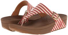 Amazon.com: FitFlop Women's The Skinny Fabric Flip Flop, Red, 6 M US: Clothing