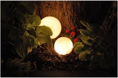 how to create glowing outdoor orbs for $3