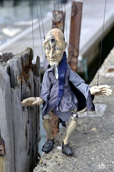 'Old Man of the Sea' Lenka Cain Pavlickova hand carves marionettes and glove puppets, using old traditional Czech methods. Glove Puppets, Shadow Puppets, Hand Puppets, Finger Puppets, Peter And The Starcatcher, Marionette Puppet, Monkey Art, Comedy And Tragedy, Puppet Show