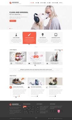 Whisper - Creative Corporate Theme by Zizaza - design ocean , via Behance