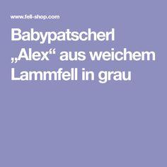 """Babypatscherl """"Alex"""" aus weichem Lammfell in grau"""