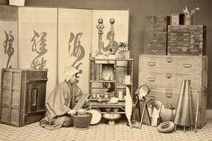 Antique shop, ca. 1860s by Ueno Hikoma