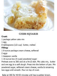 CHESS SQUARES .. My fav dessert..