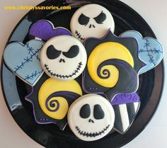 Mini Jack and Sally Nightmare before Christmas Cookies ...