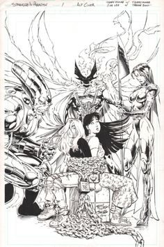 STRANGERS IN PARADISE #1 VARIANT COVER ( 1996, JIM LEE and TERRY MOORE collaboration! ), in www. ComicLink.com Original Art Auctions and Exchange's FEBRUARY 2013 FEATURED AUCTION - SAMPLE HIGHLIGHTS GALLERY Comic Art Gallery Room - 963030