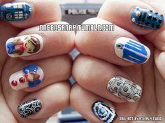 dneedsanap: My New Doctor Who Nails!!! So I may... | fuck yeah nail art!