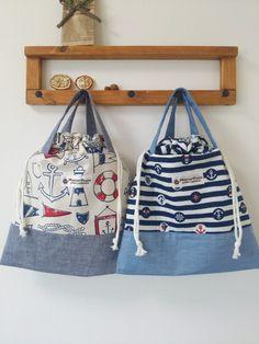 持ち手つき巾着袋縦約33×横約30 ハンドメイド、手作り、手仕事品の通販・販売・購入ならCreema。