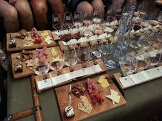 we ALL ordered the sommelier's choice wine flight with food pairing / vancouver urban winery (vancouver, BC)