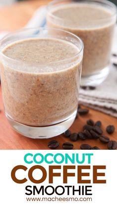 Coconut Coffee Smoothie: A great way to start with a chilling and healthy coconut and banana smoothie. I like to add just enough coffee to get ya moving!