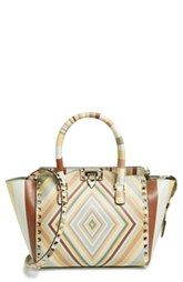 Valentino 'Rockstud 1975' Double Handle Leather Shopper