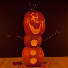 Halloween Olaf pumpkin. Learn how to make your own!