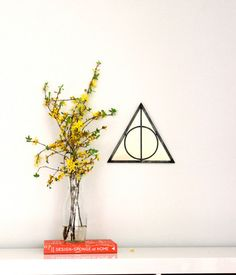 £43 NEEEEEED Triangle Circle Wall Mirror Geometric / Handmade Wall Mirror Pyramid Deathly Hallows Harry Potter