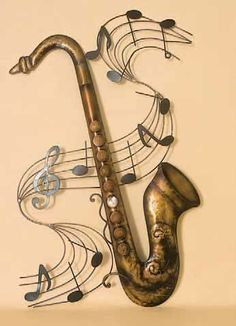 Metal Saxophone Wall Art.