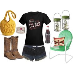"""Fireflies"" by thecowgirlwaymagazine on Polyvore"