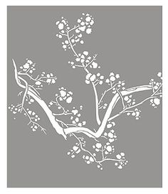 Large Cherry Blossom Stencil