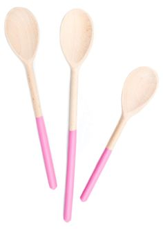 Dipped Wooden Spoon Set for $28. Or I can dip $2 ones in some paint.