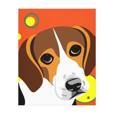 Contemporary Beagle Lover Art Canvas Print  beagle, puppy parents, adult beagle #beaglepuppy #golden #husky, back to school, aesthetic wallpaper, y2k fashion Beagle Art, Beagle Puppy, Beagle Kennel, Stretched Canvas Prints, Canvas Art Prints, Fine Art Prints, Peter Max Art, Beagle Gifts, Cute Beagles