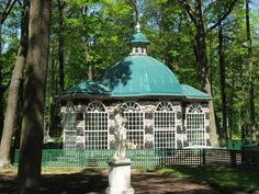 Gazebo on the grounds of Peterhof Palace, Saint Petersburg, Russia
