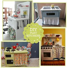 D.I.Y. Play Kitchens    these are adorable, and 10x more awesome than the ones I had growing up.