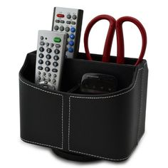 Earlygreen Xzsnhl1 Pu Leather 360 Degrees Rotatable Remote Control/controller Tv Guide/mail/cd Organizer/caddy/holder Home Organizer Desk Organizer Black Color Earlygreen http://www.amazon.com/dp/B00IY3URBW/ref=cm_sw_r_pi_dp_pgPaub0H7HX00