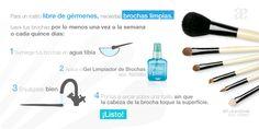Tip para limpiar tus brochas y dejarlas impecables.