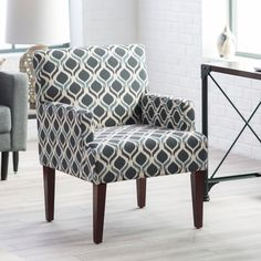 Belham Living Geo Accent Chair with Arms - Accent Chairs at Hayneedle